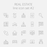 nieruchomości ikony reala set