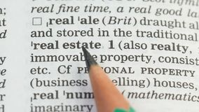 Nieruchomości znaczenie na angielskim słownictwie, domowy budowa biznes, wartości zbiory