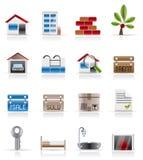 nieruchomości ikon real realistyczny Fotografia Stock