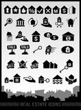 Nieruchomości ikony royalty ilustracja