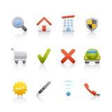 nieruchomości ikony reala set Zdjęcie Stock