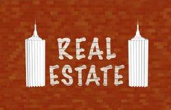 nieruchomości ikony reala tekst Obraz Royalty Free