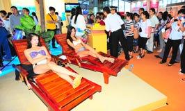 nieruchomości jarmarku modela istny izbowy Shenzhen handel Obrazy Royalty Free
