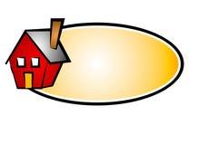 nieruchomości 5 domowa sieć naprawdę logo Obraz Royalty Free