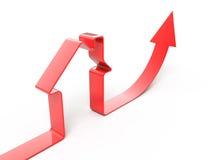 nieruchomości sprzedaże narastające istne Zdjęcie Stock
