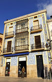 Niesamowicie budynek z kafelkową fasadą, Caceres, Extremadura, Hiszpania Zdjęcie Royalty Free