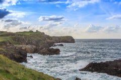 Niesamowicie falezy wybrzeża Cantabria Obraz Stock
