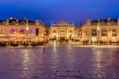 Niesamowicie imponująco i piękny miejsce w Nancy przy nocą Zdjęcie Stock