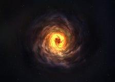 Niesamowicie piękny ślimakowaty galaxy gdzieś wewnątrz Fotografia Stock
