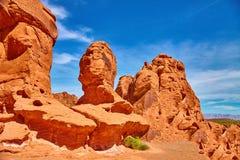 Niesamowicie piękny krajobraz w Południowym Nevada, dolina Pożarniczy stanu park, usa Zdjęcia Royalty Free