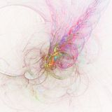 Niesamowicie Zwarty Superparticle Uderza Białą Karłowatą gwiazdę i Wybucha Z kolorem | Fractal sztuka Obrazy Royalty Free