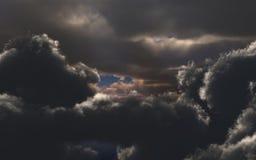 niesamowite chmury Zdjęcia Royalty Free