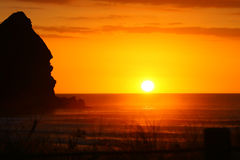 niesamowite piha beach słońca Obrazy Royalty Free