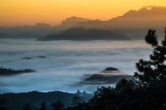 niesamowite wschód słońca Obraz Royalty Free