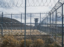 Niesamowity widok, Historyczny Nevada więzienie stanowe, Carson miasto fotografia royalty free