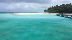 Nieseln bei den Malediven Stockbild