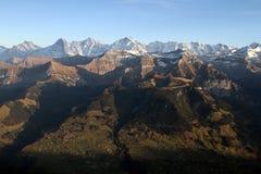 在秋天的Bernese Oberland 库存图片