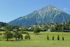 Niesen Mountain in Switzerland Stock Photos