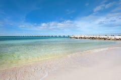 Nieskazitelna piaskowata plaża fotografia stock
