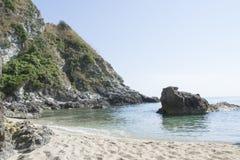 Nieskazitelna plaża, Calabria, Włochy Zdjęcia Stock