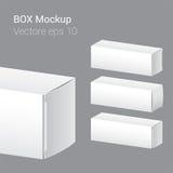 Nieskazitelny pustego miejsca pudełko, biały pudełko Fotografia Stock