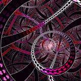 Nieskończona Circural miłości stylu fractal sztuka ilustracja wektor