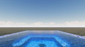 Nieskończoność basen z denną panoramą zdjęcie wideo