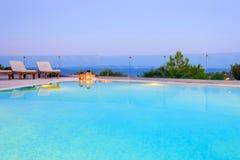 Nieskończoność basen z dennym widokiem Fotografia Royalty Free