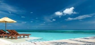 Nieskończoność basenu panorama obraz royalty free