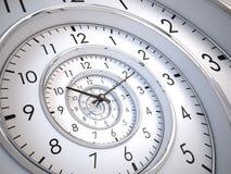 Nieskończoność czasu spirala Fotografia Royalty Free