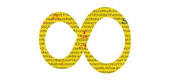 Nieskończoność symbol, kolor żółty z skrętem ilustracji