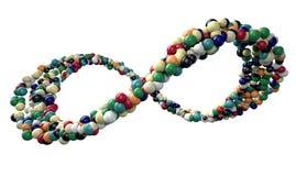 Nieskończoność symbolu Kolorowe piłki Zdjęcie Royalty Free