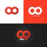 Nieskończoność symbolu loga projekta ikony ustalony tło Obraz Stock