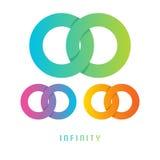 Nieskończoność znak, różny barwiony Zdjęcia Stock