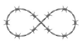 Nieskończoność znak robić drut kolczasty wektorowa realistyczna ilustracja ilustracja wektor