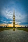 Nieskończoności kolumna - Constantin arcydzieło Brancusi Ja jest rzeźbą robić Constantin Brancusi obrazy royalty free