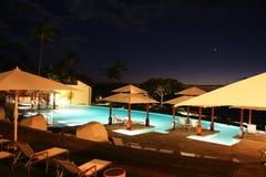 nieskończoności Maui noc basen Obraz Royalty Free