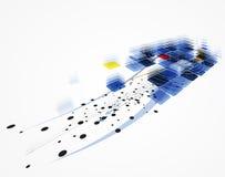 Nieskończoności nowej technologii pojęcia biznesu komputerowy tło Obraz Royalty Free