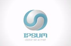 Nieskończony abstrakcjonistyczny wektorowy logo dla kosmetyków, student medycyny Fotografia Royalty Free
