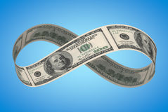 Nieskończony dolar obrazy stock