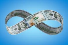 Nieskończony NOWY dolar fotografia royalty free