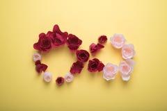 Nieskończony z różami Fotografia Stock