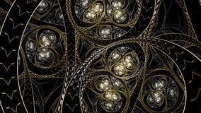 Nieskończona Circural stylu fractal sztuka Zdjęcie Stock