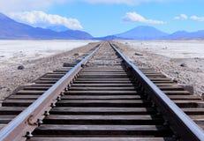 nieskończona linia kolejowa Obrazy Stock