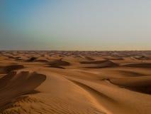 Nieskończone pustynne diuny Obrazy Stock