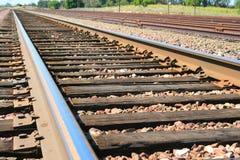 nieskończona linia kolejowa Obrazy Royalty Free