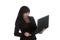 Niespodzianka laptop obrazy royalty free