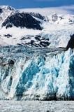 Niespodzianka lodowiec przy Harriman Fjord w książe William dźwięku, Niestety obrazy royalty free