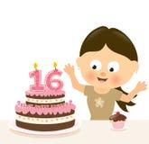 Niespodzianki Szesnaście urodziny ilustracja wektor