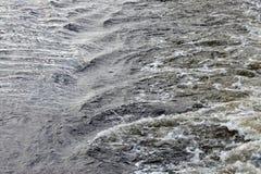 Niespokojna woda rzeczna Obraz Royalty Free